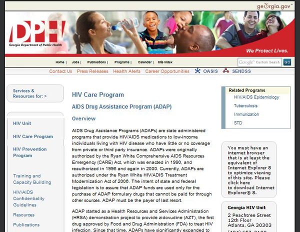 Georgia AIDS Drug Assistance Program