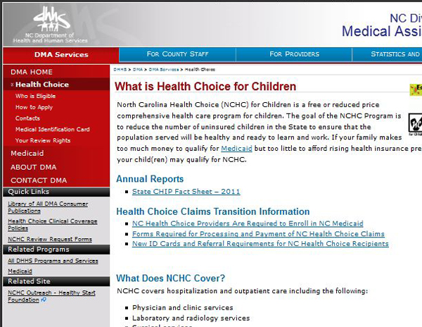 North Carolina Health Choice