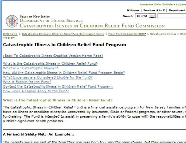Catastrophic Illness in Children Relief Fund