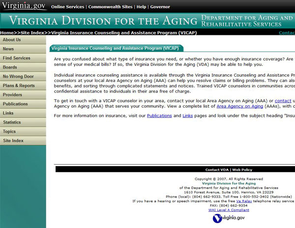 Virginia Insurance Counseling and Assistance Program