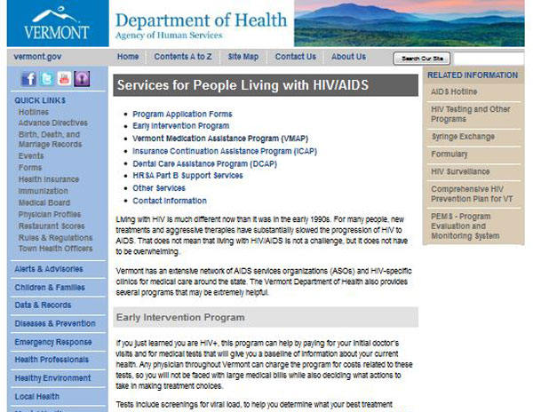 Vermont AIDS Drug Assistance Program