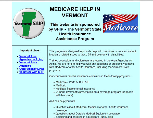 SHIP - The Vermont State Health Insurance Assistance Program